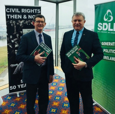 Carntogher Cllr Martin Kearney and Patsy McGlone MLA at the SDLP Conference on Saturday 7th April 2018