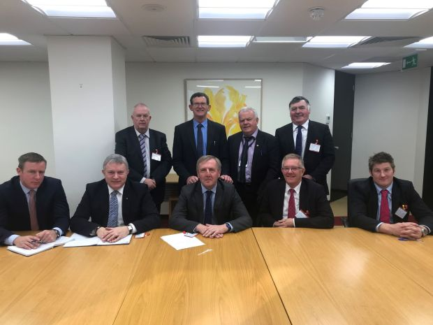 SDLP Delegation with Irish Government Minister for Agriculture, Food and the Marine, Michael Creed TD, in Dublin October 2018.