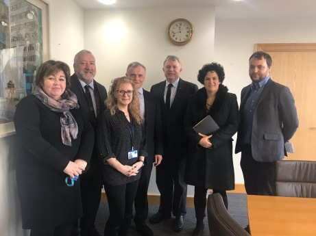 SDLP Delegation meeting with Department for Communities Permanent Secretary Leo O'Reilly 22 November 2018
