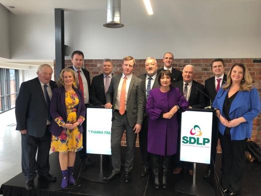 SDLP Fianna Fail Partnership launch