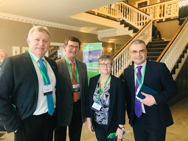 Mid Ulster Councillors Christine McFlynn and Martin Kearney with Mid Ulster MLA Patsy McGlone met up with Dara Calleary, Deputy Leader of Fianna Fáil at the Fianna Fáil Ard Fheis, February 2019