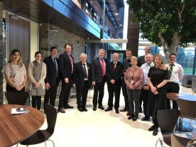 SDLP delegation, along with Fianna Fáil TD Charlie McConnalogue, meeting with DAERA Permanent Secretary, March 2019.