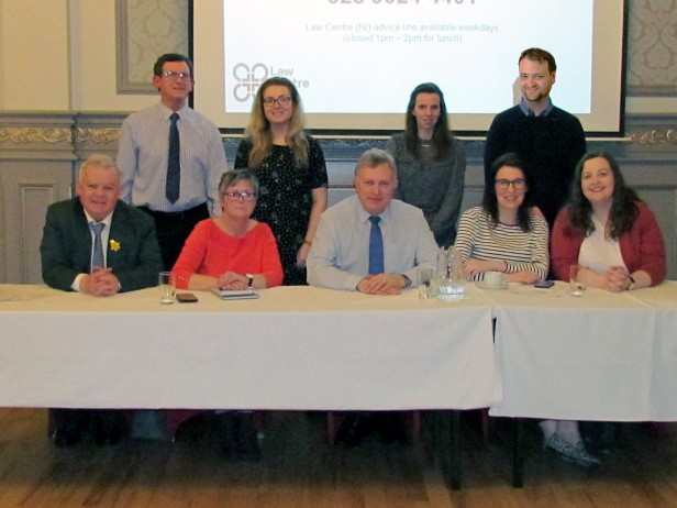 SDLP representatives and Law Centre (NI) at Welfare Reform Public Meeting on 26th February 2019 in Walsh's Hotel, Maghera.